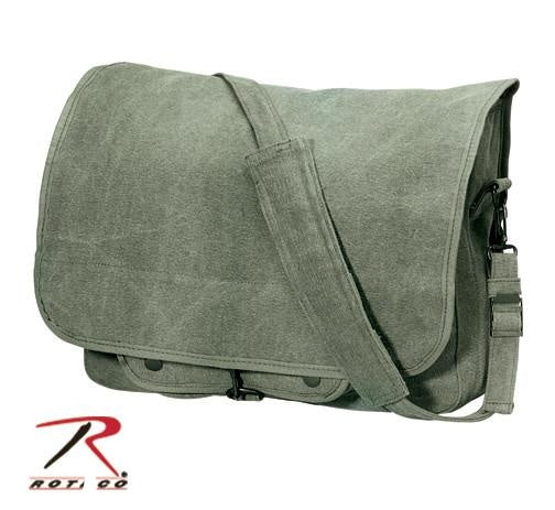 9128 ROTHCO VINTAGE CANVAS PARATROOPER BAG - OLIVE DRAB
