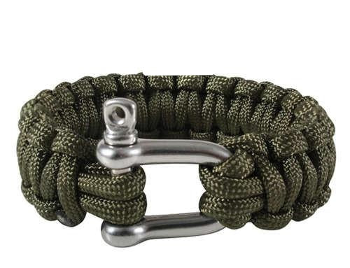 914 Rothco Olive Drab Paracord Bracelets w/ D-Shackle Closure