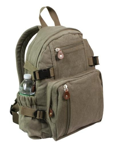 9152 ROTHCO VINTAGE CANVAS MINI BACKPACK - OLIVE DRAB
