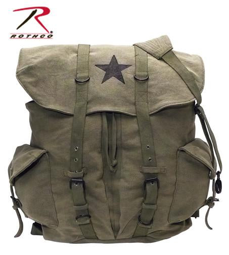 9158 Rothco Vintage Olive Drab Star Backpack