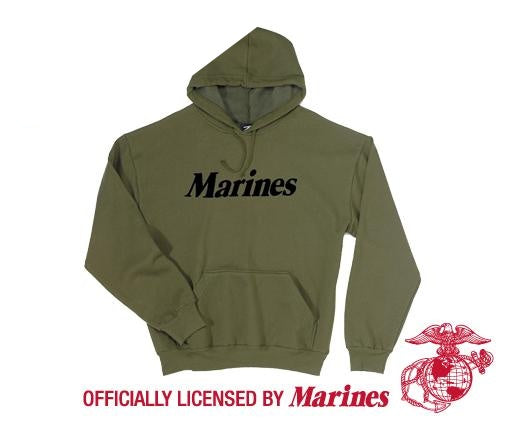 9176 Rothco Marines Pullover Hooded Sweatshirt - Olive Drab