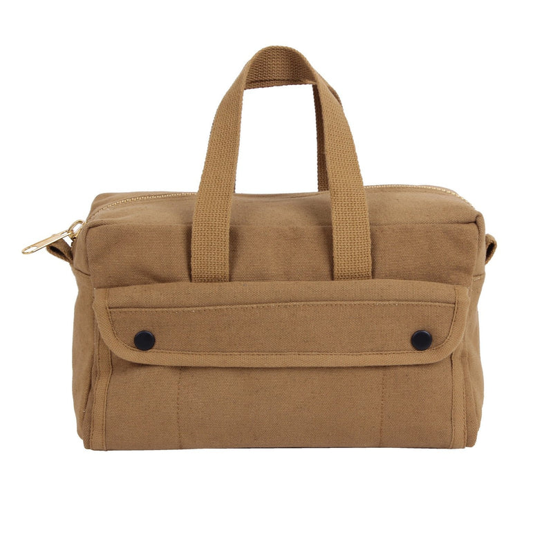 91820 Rothco G.I. Type Mechanics Tool Bag With Brass Zipper - Coyote Brown