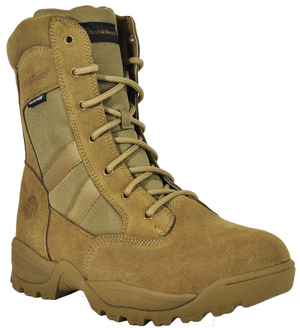 "Smith & Wesson Breach 2.0 Men's Tactical Waterproof Side-Zip Boots - 8"" Coyote"
