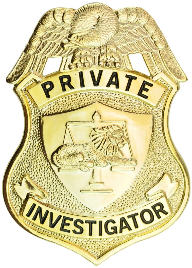 Tactical 365® Operation First Response Private Investigator Metal Shield Badge