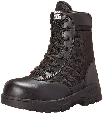 "Original S.W.A.T. Men's Classic 9"" Light Safety Toe Work Boot - Black"