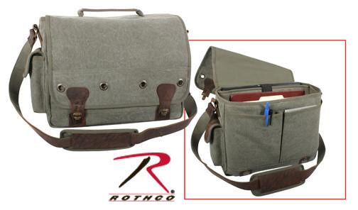 9239 Rothco Vintage Olive Drab Trailblazer Laptop Bag