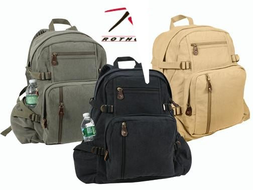 9262 ROTHCO VINTAGE CANVAS BACKPACK