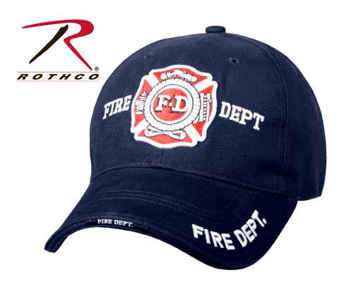 9365 Rothco Deluxe Navy Blue Fire Dept Low Profile Insignia Cap