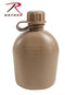 936 Rothco 3pc Gi Plastic Canteen - 1 Quart - Coyote Brown