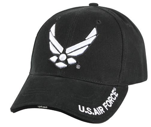 9384 DELUXE BLACK ''NEW WING AIR FORCE'' LOW PROFILE CAP