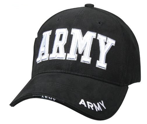 9385 DELUXE BLACK LOW PROFILE CAP - ''ARMY''