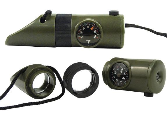 9415 Rothco 6-in-1 Led Survival Whistle Kit