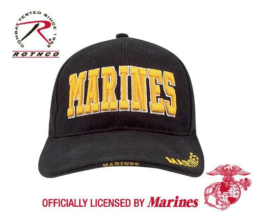 9437 Rothco Marines Deluxe Low Profile Insignia Cap - Black