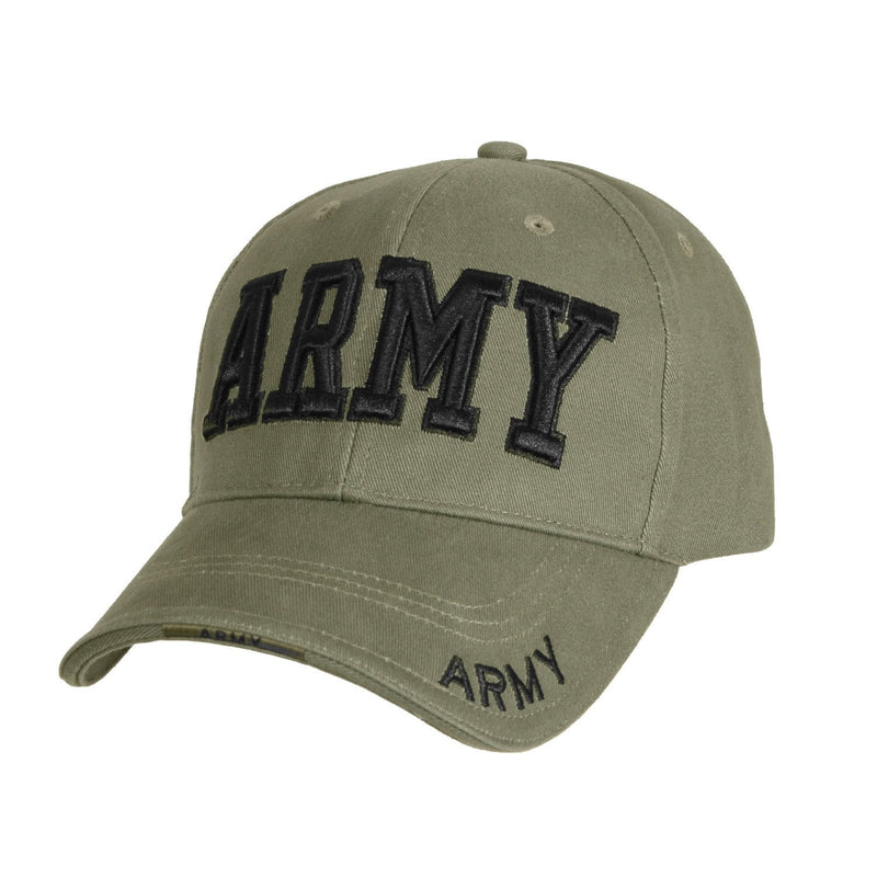 9508 Rothco Deluxe Army Embroidered Low Profile Insignia Cap - Olive Drab