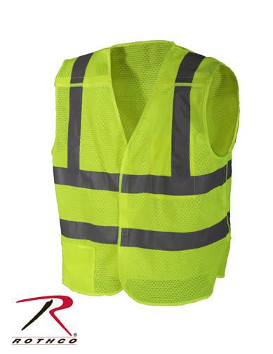 9564 / 9568 Rothco 5-point Breakaway Vest - Safety Green