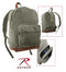 9666 Rothco Olive Drab Vintage Canvas Teardrop Backpack w/Leather Accents