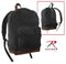 9667 Rothco Black Vintage Canvas Teardrop Backpack w/Leather Accents