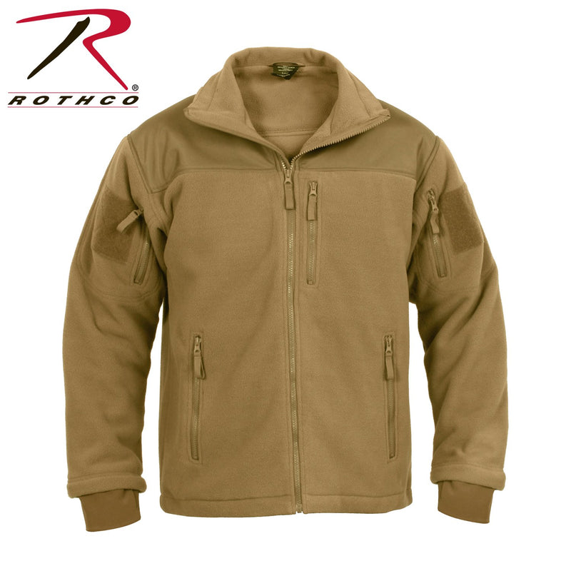 Coyote Brown Tactical Military Style Fleece Jacket Special Ops Rothco 96680