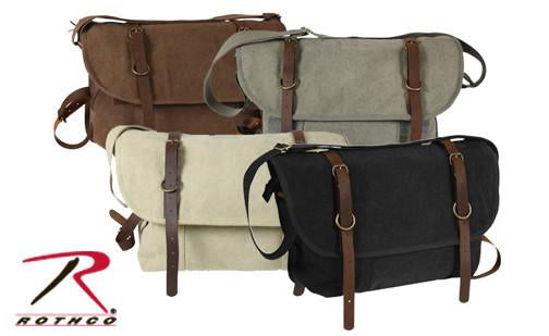 9684 Rothco Vintage Canvas Explorer Shoulder Bags w/Leather Accents