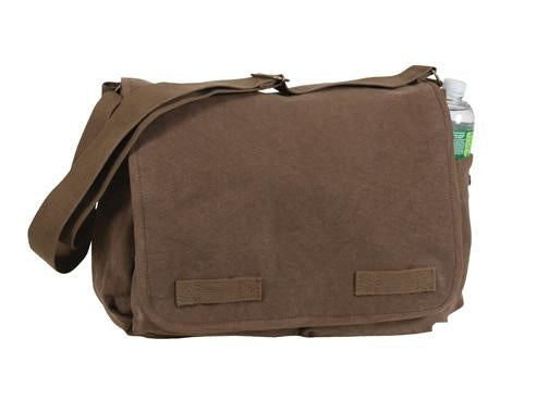 9694 ROTHCO HEAVYWEIGHT CANVAS CLASSIC MESSENGER BAG - EARTH BROWN