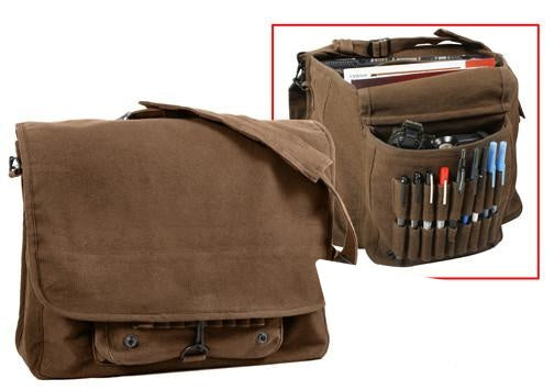 9728 ROTHCO VINTAGE CANVAS PARATROOPER BAG - BROWN
