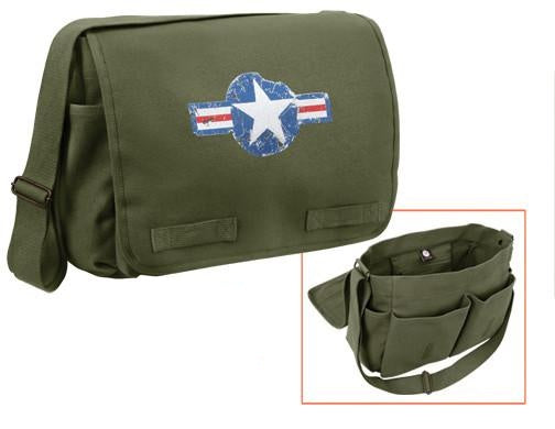 9756 Rothco Heavyweight Classic Messenger Bag - Air Corp - OD