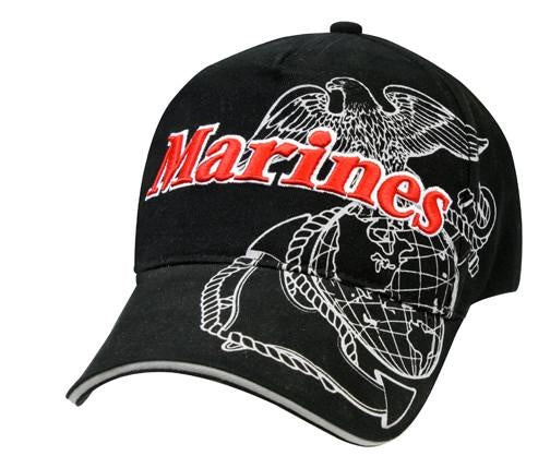 9794 Black 'Marines' Deluxe Low Profile Insignia Cap