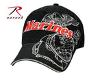 9794 Rothco Black Marines Deluxe Low Profile Insignia Cap