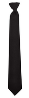 "HWC 3"" Police and Security Pullaway Clip on Neckties (20"", Black)"