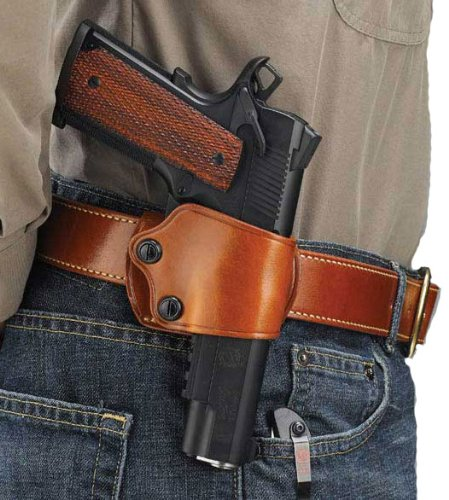 Galco Yaqui Slide Belt Holster for 1911 3-Inch-5-Inch Colt, Kimber, Para,  Springfield, Kahr, Walther P22 Right Hand
