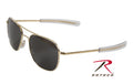 10714 55mm AO Original Pilot Polarized Sunglasses - Gold