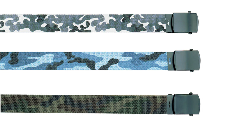 4178 / 4187 / 4278 Rothco Olive Drab/camo Reversible Web Belt