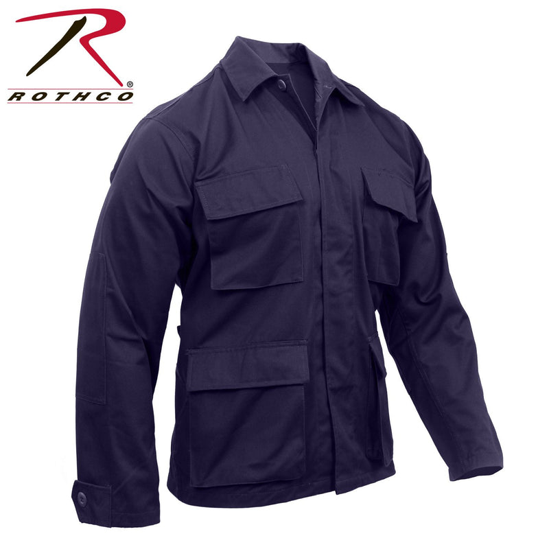 8885 Rothco Poly/Cotton Twill Solid BDU Shirts - Navy Blue