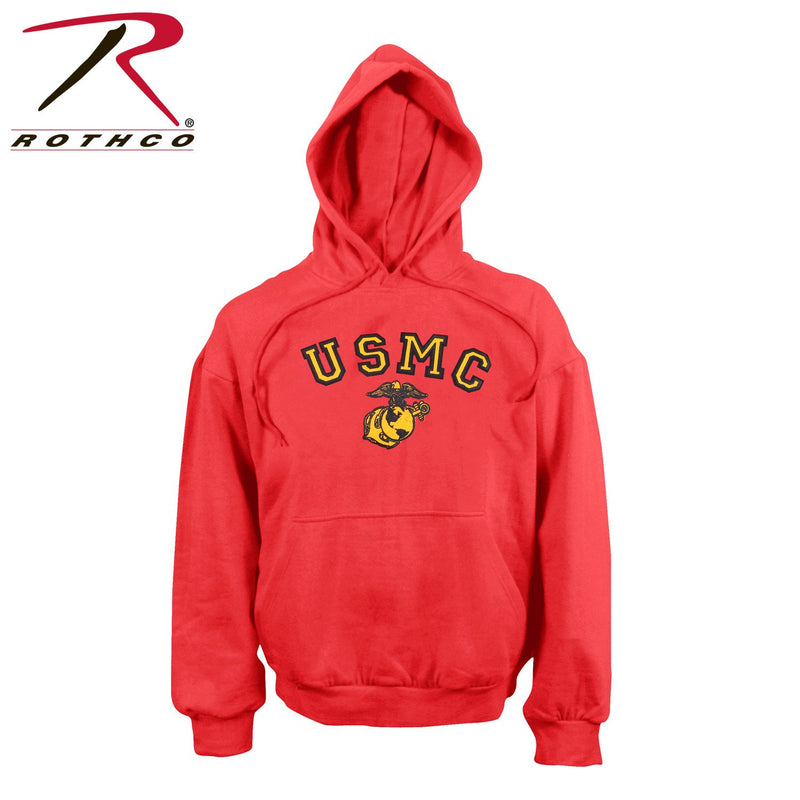 9222 Rothco USMC Globe & Anchor Pullover Hooded Sweatshirt - Red
