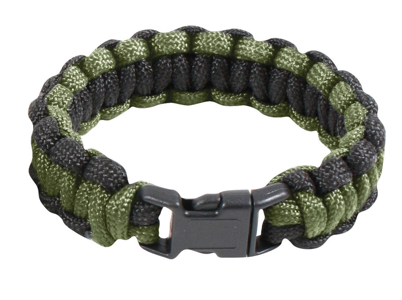 921 Rothco Paracord Bracelet - Olive Drab And Black