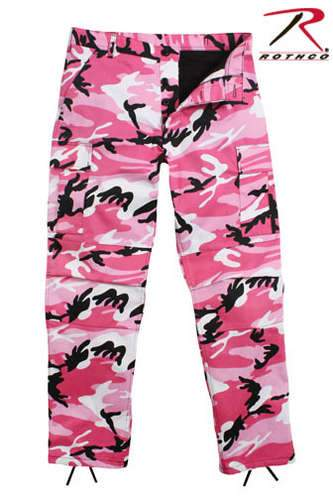 8670 Rothco Color Camo Tactical BDU Pants - Pink Camo
