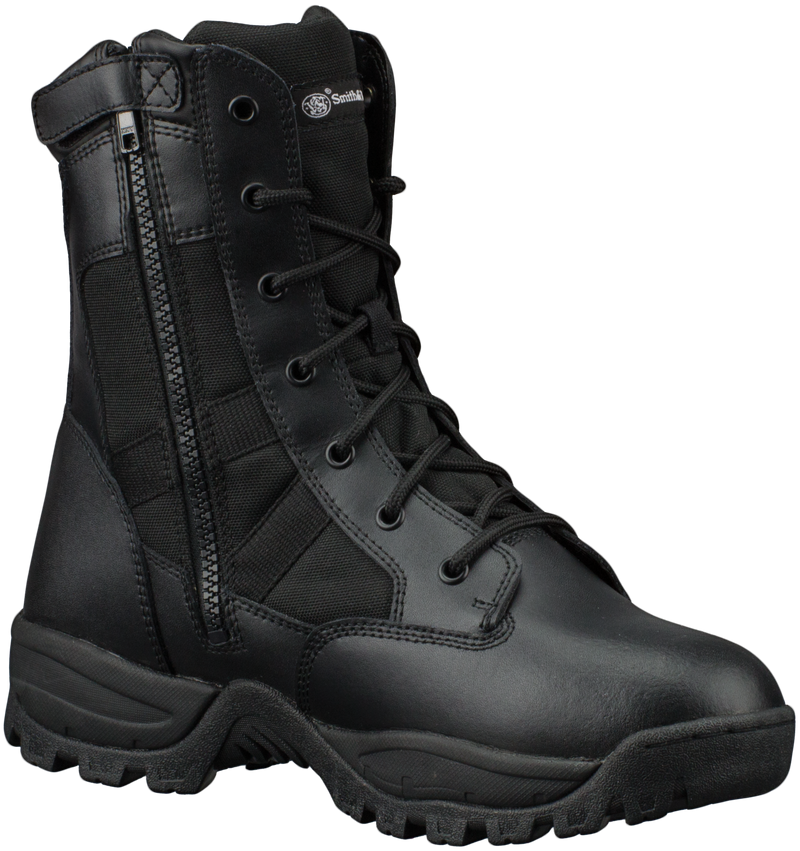 "Smith & Wesson® Footwear Breach 2.0 Men's Tactical Waterproof Side-Zip - 8"" Black"