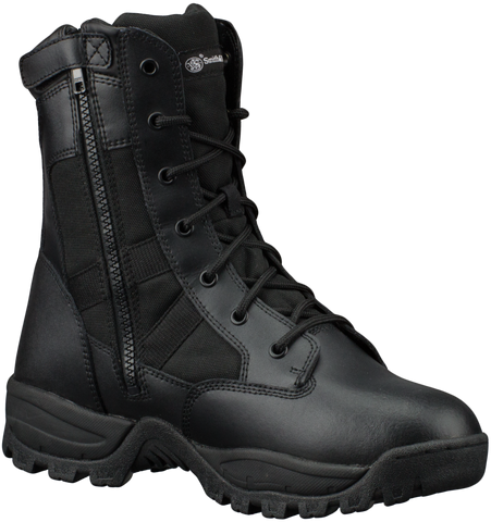 "Smith & Wesson® Footwear Breach 2.0 Men's Tactical Waterproof Side-Zip - 8"" Black - Boot"