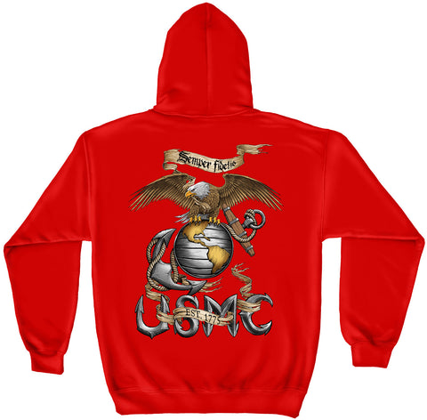 Elite Breed The Black Book Semper Fi Eagle (Red) Sweatshirt