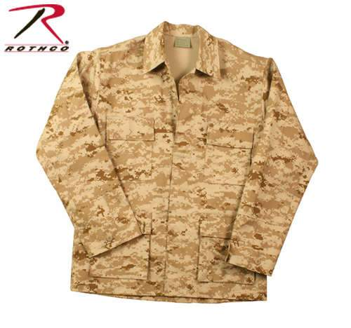 8898 Rothco Digital Camo BDU Shirts - Desert Digital Camo