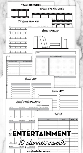 The Ultimate Planner Bundle - 78 Planner Inserts