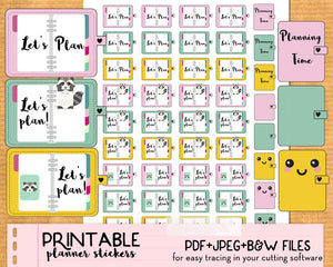 """Planning Time"" Stickers - Printable"