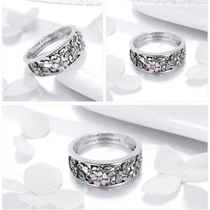 925 Sterling Silver Daisy Flower Ring