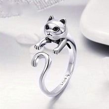 Load image into Gallery viewer, 925 Sterling Silver Long Tail Cat Ring