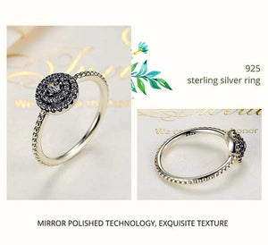 925 Sterling Silver Round Shape Radiant, Clear CZ Flower Ring