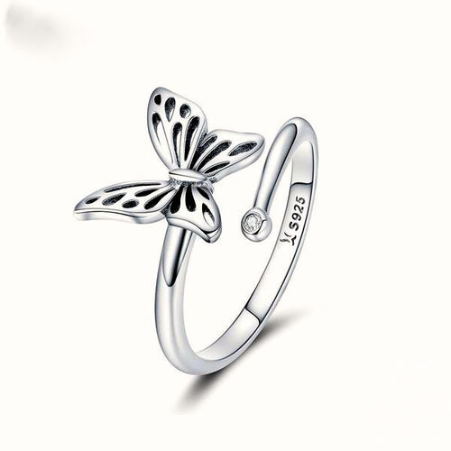 925 Sterling Silver Vintage Butterfly Ring