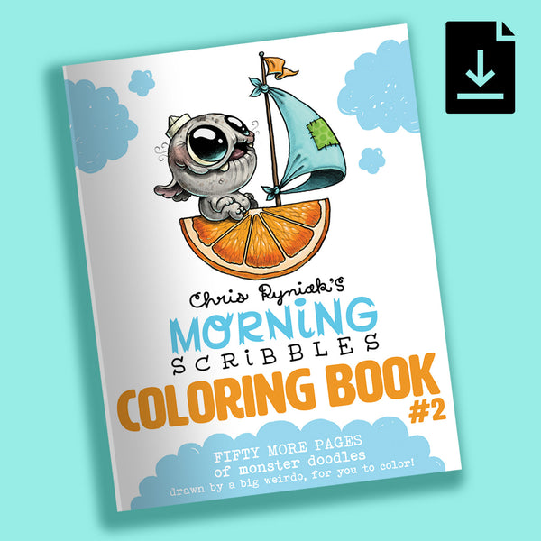 Morning Scribbles Coloring Book #2 - PDF Download