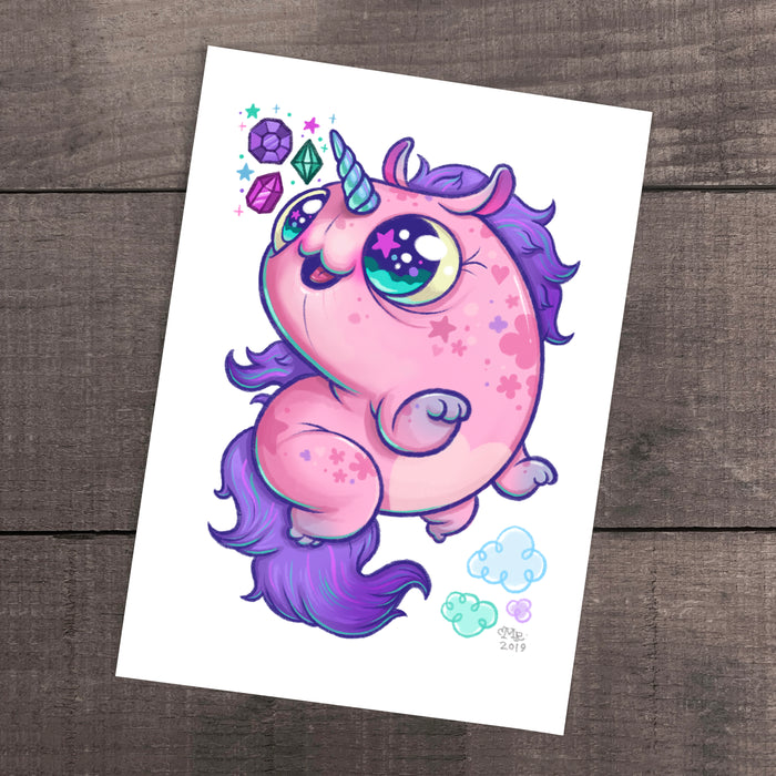 """Floofy Unicorn Magic"" Print"