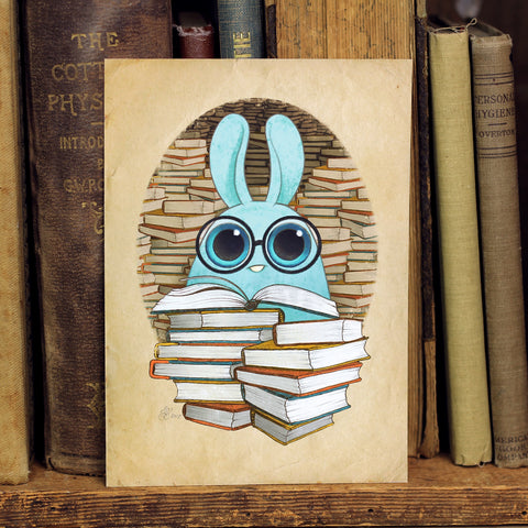 """So Many Books"" Print"