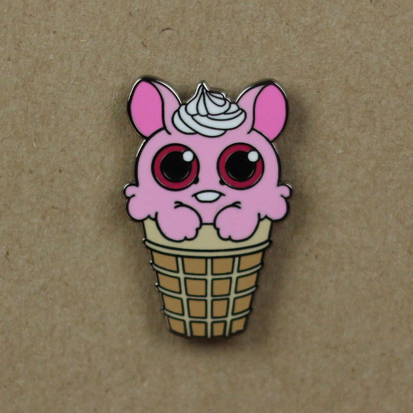 Ice Cream Bunny Pin